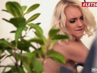 #LETSDOEIT Sexy Teen Marylin Sugar Rides Cock in Hostel Room