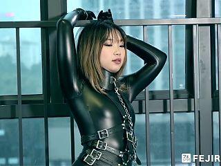 Fejira com – Captured girl in latex catsuit
