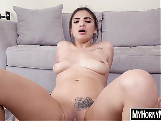 Attractive Latina maid sells her pussy for extra cash