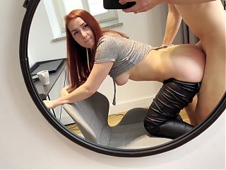 Public pickup: Pretty girl fucks for iPhone and gets creampie