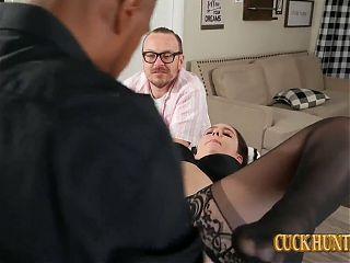 Cucked Husband Watches Kyra Rose Take Big Black Cock
