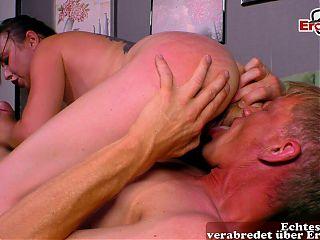 German amateur brunette girl gets orgasm at first porn