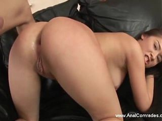 Opening Her Ass Wide For Dick