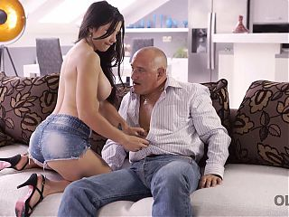 OLD4K. Dazzling gal XXX wants lover's old cock