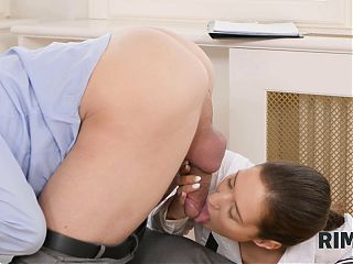 RIM4K. Wasteful wife with a skinny body makes her man happy