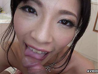 Japanese beauty Sara Yurikawa sucks dick, uncensored